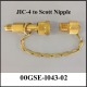 Transfill Adapter, JIC-4 to 9/16 Scott