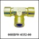 Union Tee 1/4 NPT-F, Brass