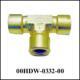 Union Tee 1/4 NPT-F, Brass