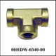 Union Tee 1/8 NPT-F, Brass