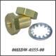 1/4 NPT-F Bulkhead .99, Brass