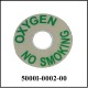 Label Decal for Oxygen Plate