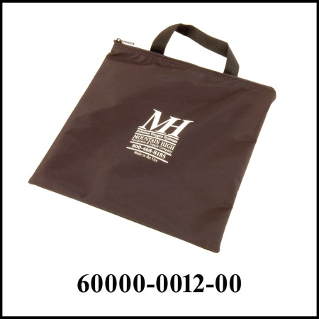 black tote bag with MH on the front