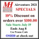 Mountain High is happy to offer a 10% AirVenture discount on all orders over $100.00. Simply enter the promotional codeOSH10 when you check out. This special will run from July 19 through August 8.