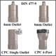 Regulator, Assy-2G, 2110 Series DIN-477-9 (Non-Gauged w/Port)